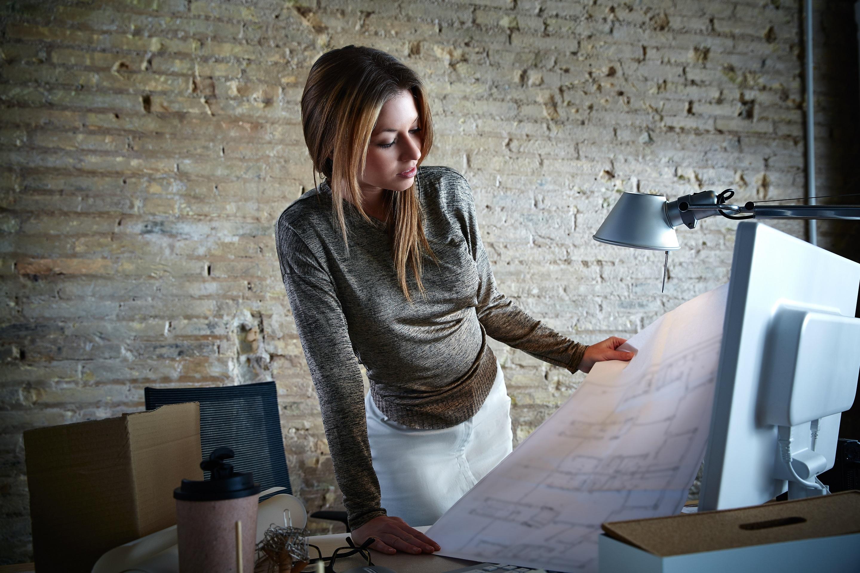 De ruimte waar de creatieve ideeën ontstaan en ontwerpen en tekeningen worden gemaakt